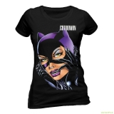 Catwoman Ladies T-Shirt Face (T-Shirt)