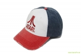 Atari - Red Logo Distressed Baseball Cap - Multicolor