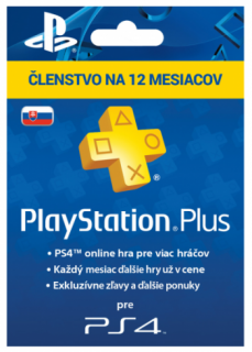 SONY PlayStation Plus Card 365 dní SK