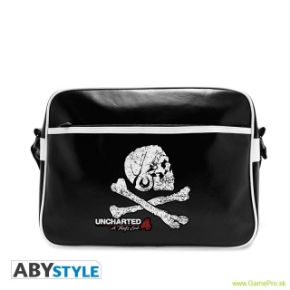 Uncharted 4 Skull Vinyl Messenger Bag