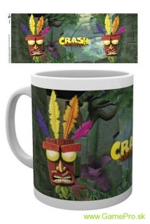 Crash Bandicoot hrnček Aku Aku