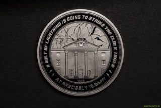Back to the Future Collectable Coin 25th Anniversary Clock Tower (silver plated)