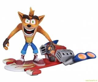 Crash Bandicoot Action Figure Deluxe Hoverboard 14 cm
