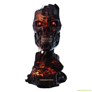 Terminator 2 - Judgment Day replika 1/1 T-800 Endoskeleton Mask Battle Damaged Version 46 cm